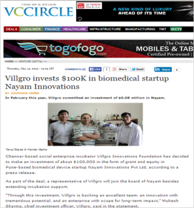 Nayam Investment by Villgro-VCcircle